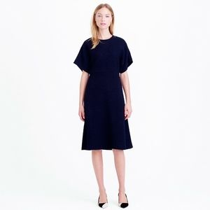 J. Crew Collection Wool Bouclé Blue Dress Size 8